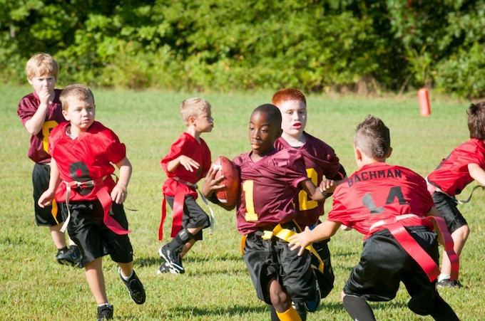 kids football reduce screen time