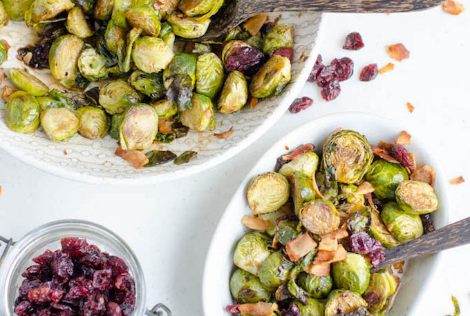 roasted brussel sprout salad meat free monday recipe
