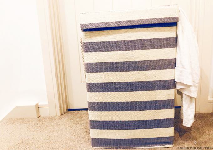 stripy nautical laundry basket
