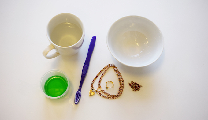 what you need to clean jewellery