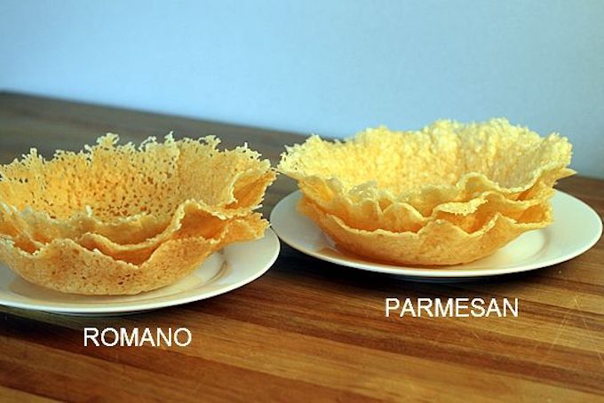 homemade parmesan cheese bowls