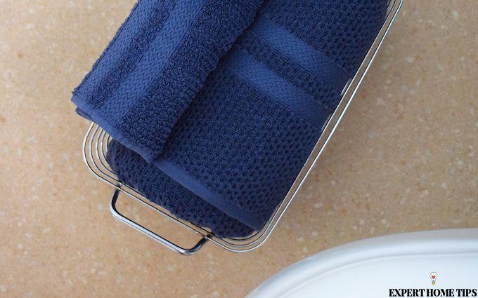 blue bathroom towels