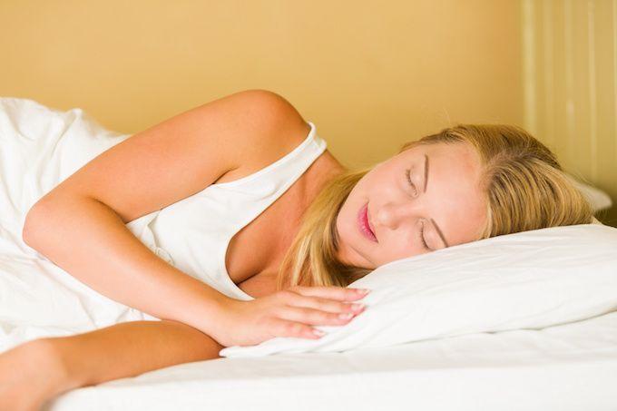 snoring woman