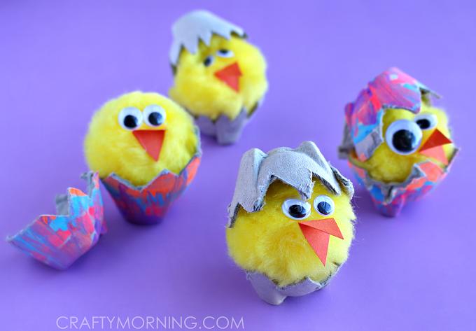 easter craft egg carton