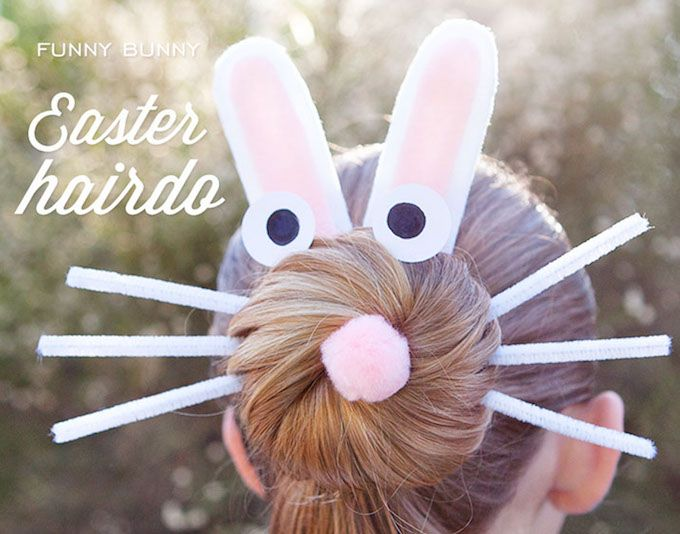 easter bunny hair accessory