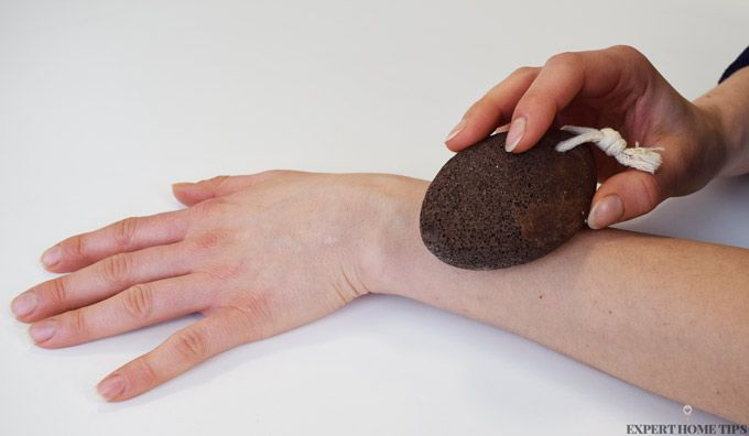 Natural hair removal pumice stone