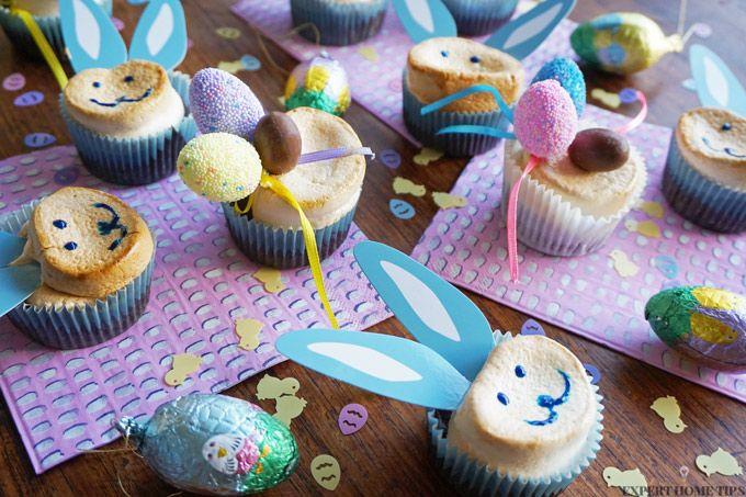 Easter marshmallow bunny cupcakes