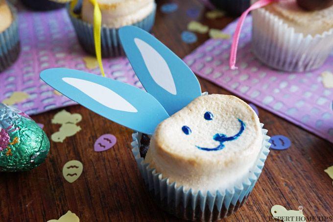 Easter marshmallow bunny cupcakes recipe