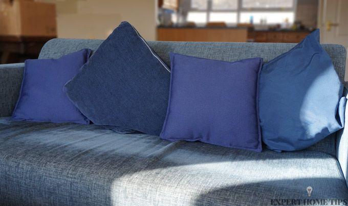 clean blue sofa