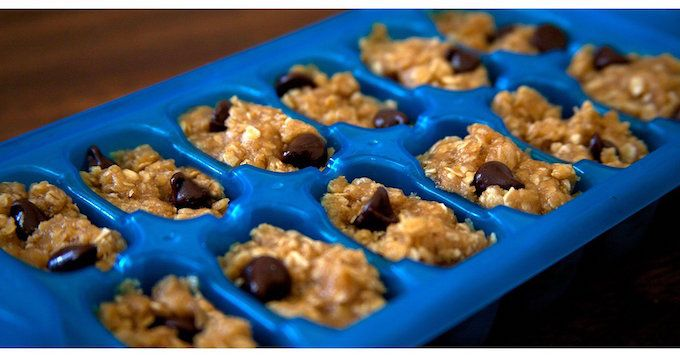 cookie dough ice cubes baking hack