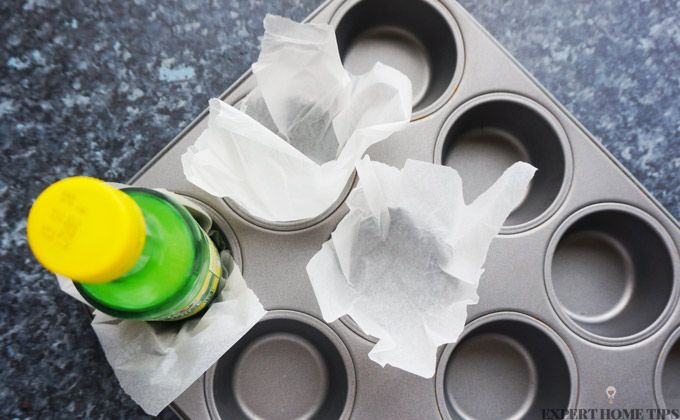 baking hack diy cupcake liner