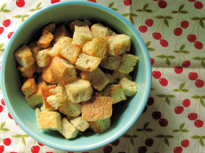 stale bread recipes homemade croutons