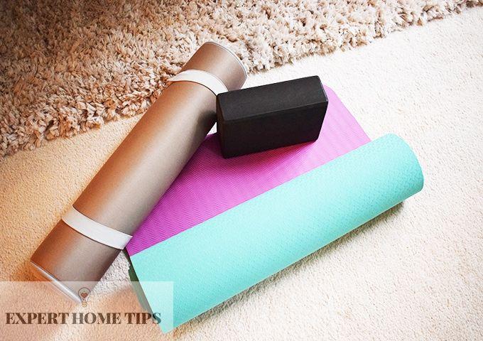 yoga mat & brick