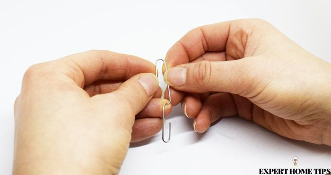 clean nails with paperclip