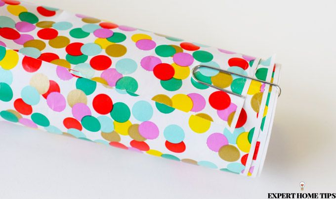 wrapping paper dotty paperclip