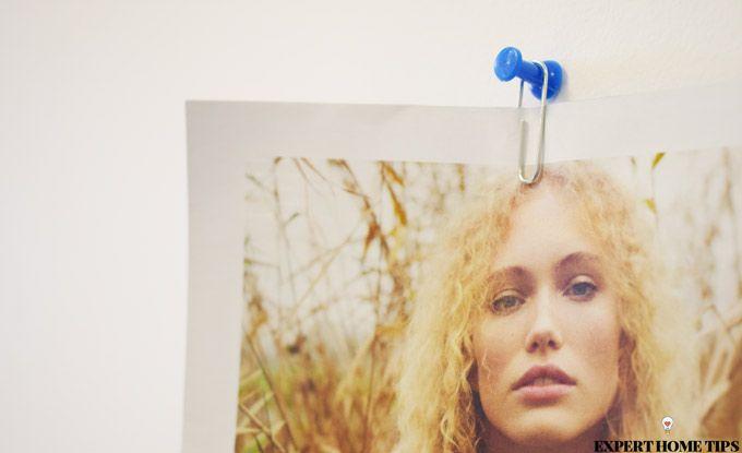 paperclip hang photo on wall