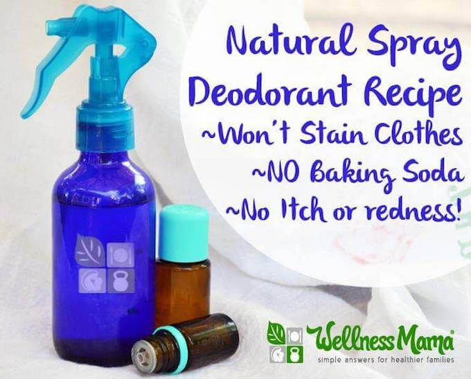 HOMEMADE deodorant spray
