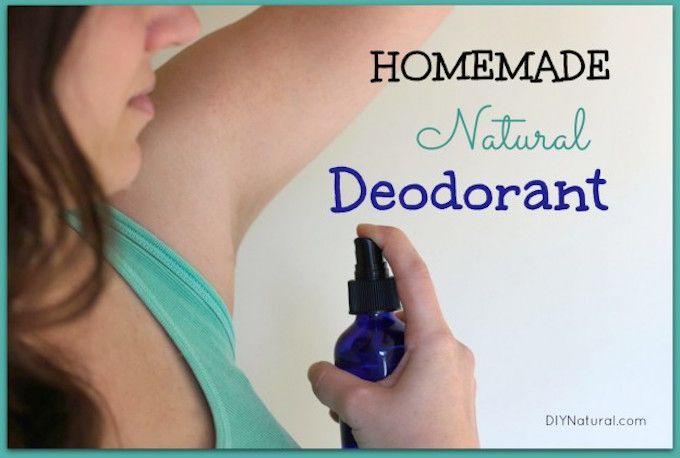 spray deodorant recipe DIY