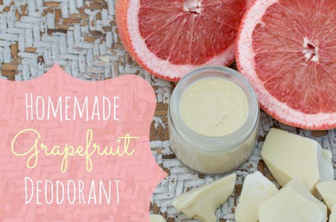 deodorant recipe grapefruit