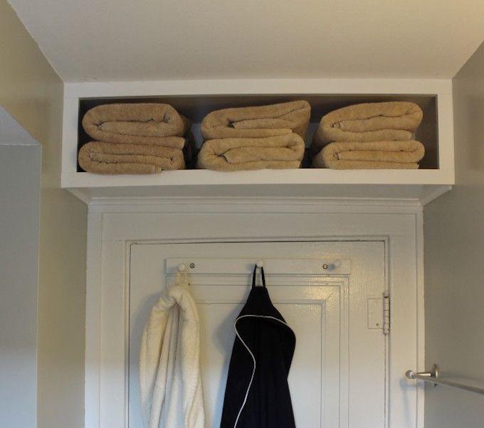 over the door storage shelf bathroom