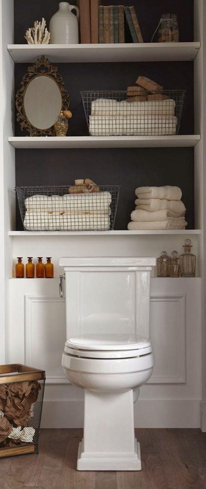 bathroom shelves pretty