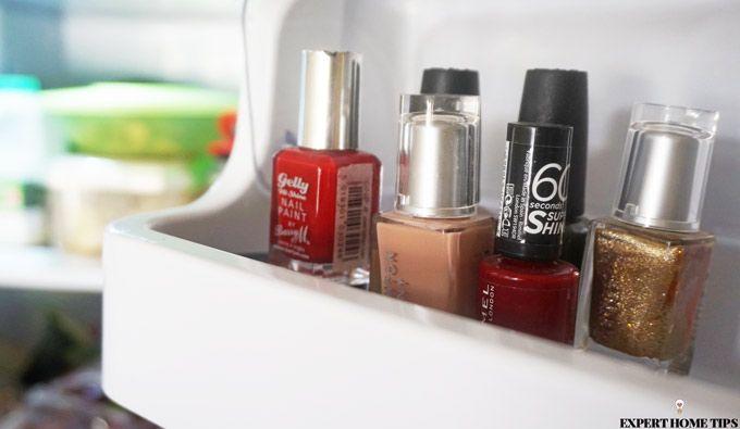nail polish in fridge