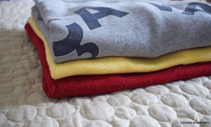 folded clothes jumper