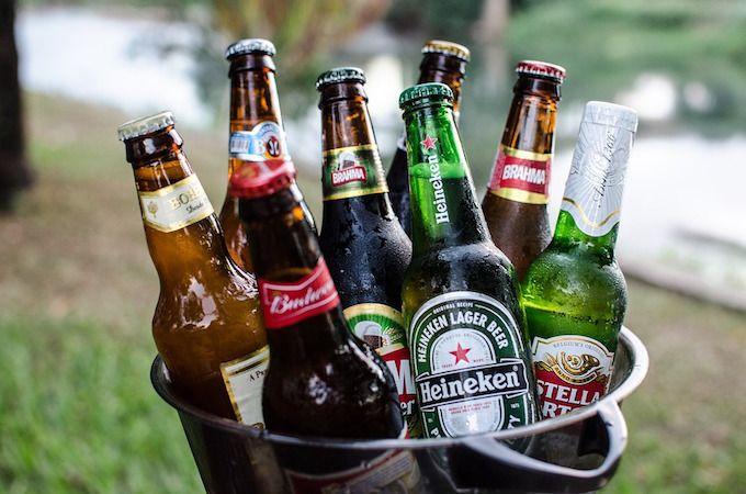 beer in bucket
