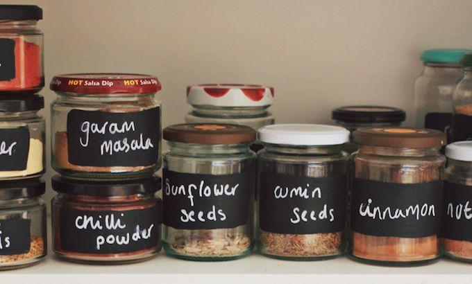 jam jars spice storage