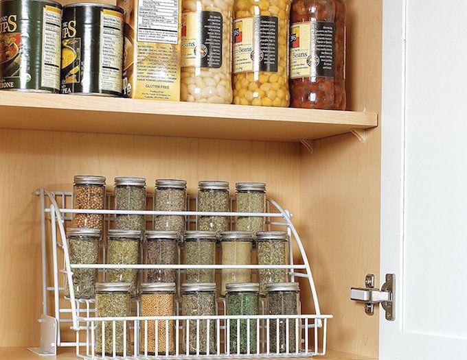 spice storage ideas pull down rack