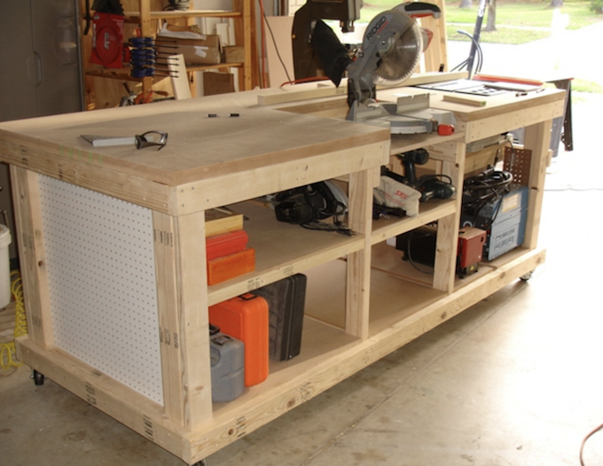workshop bench diy