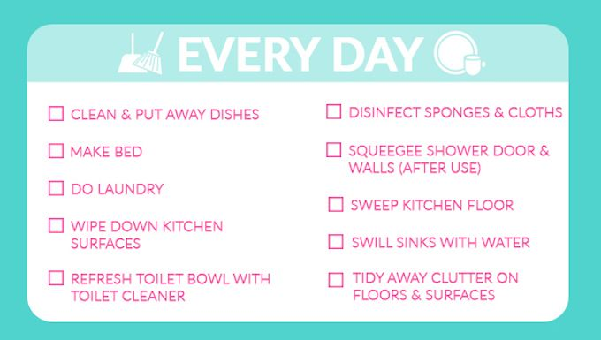 daily cleaning tasks