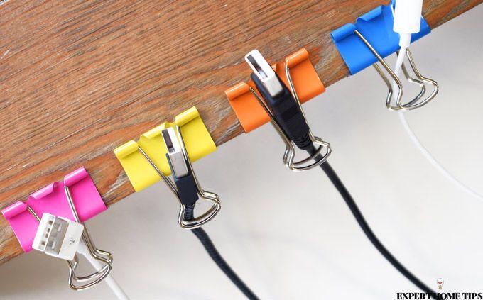 binder clips wire organiser