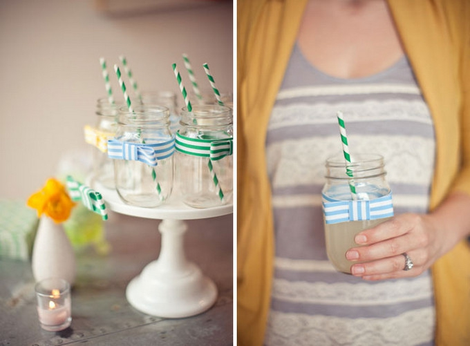 Decorate your jar drinks for added panache.