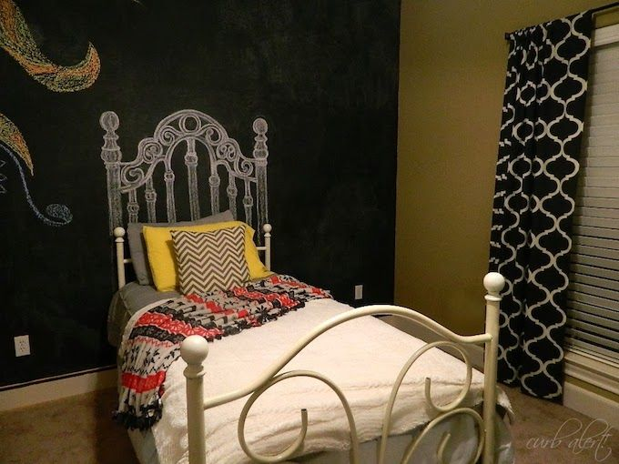 Chalk drawing headboard