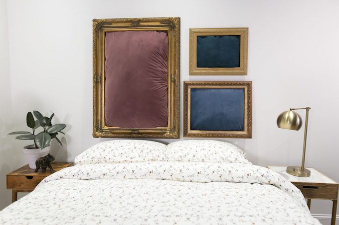 Framed pillow headboard