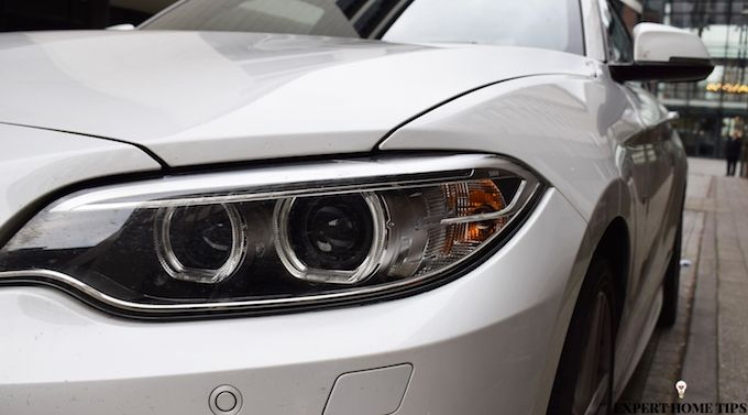 headlights silver car