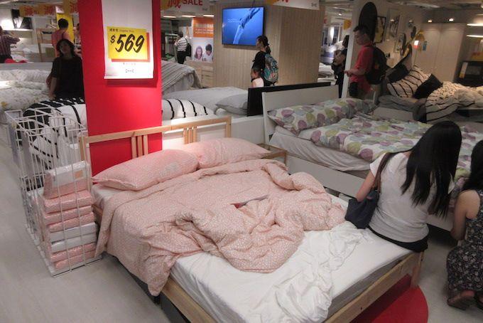 iKEA beds shopping