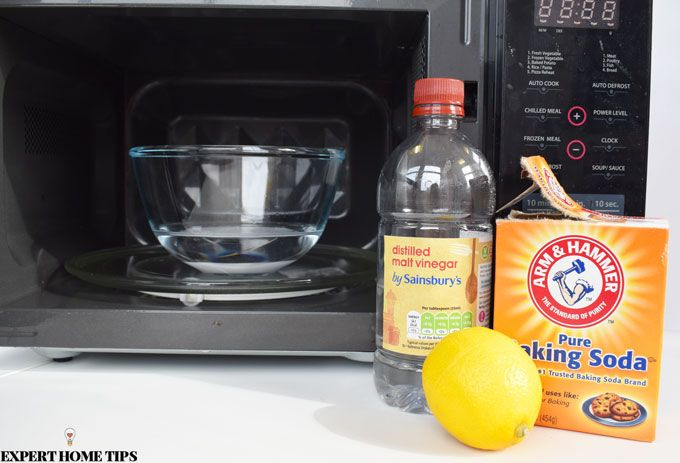 natural cleaning methods microwave