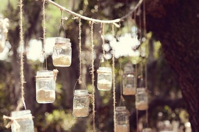 Pretty hanging tea lights.