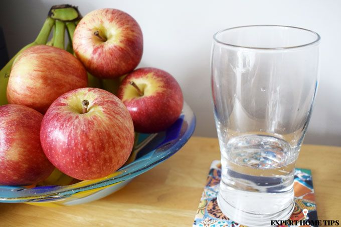 water bowl of apples