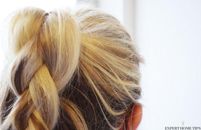 blonde plaited ponytail