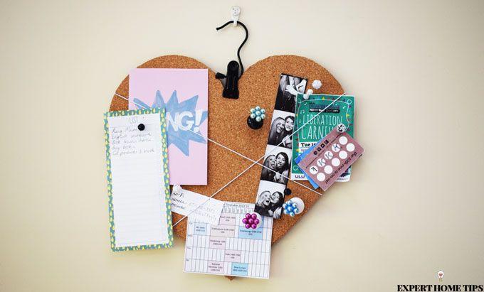 love heart notice board diy
