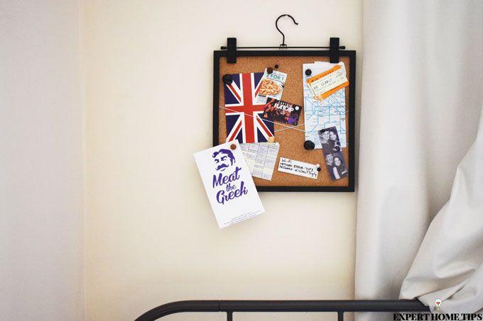 noticeboard bedroom diy