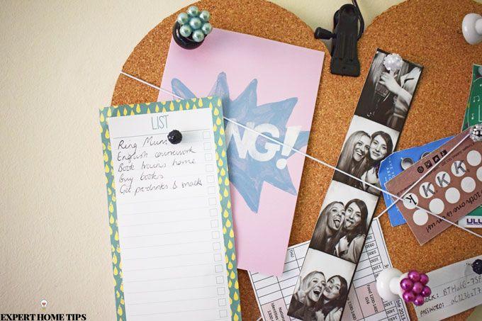diy love heart corkboard