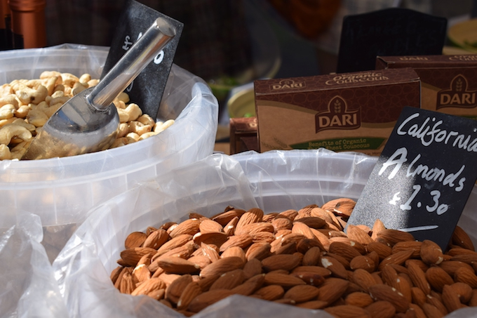 Almonds In Market