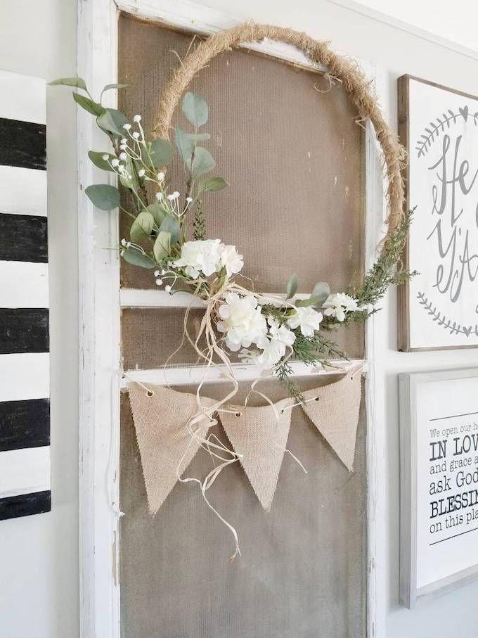 minimalist hoop wreath