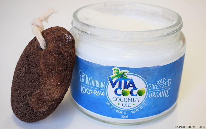 pumice stone coconut oil