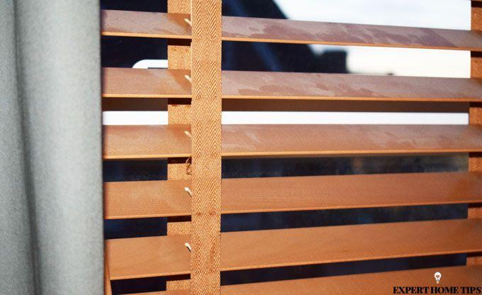 dusty wooden blinds