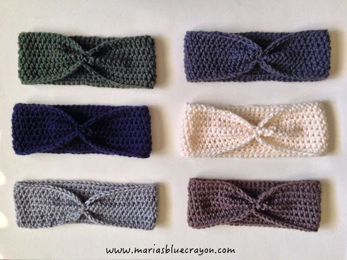 homemade crochet ear warmers